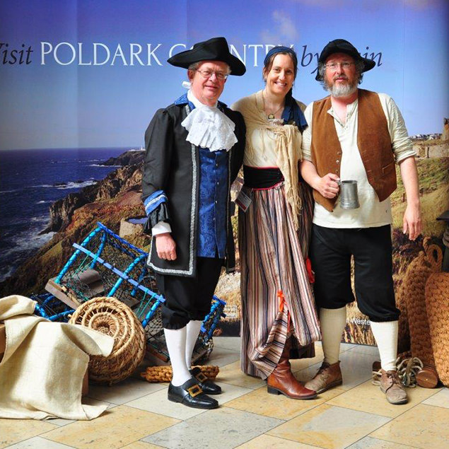 Poldark themed stand at Paddington station