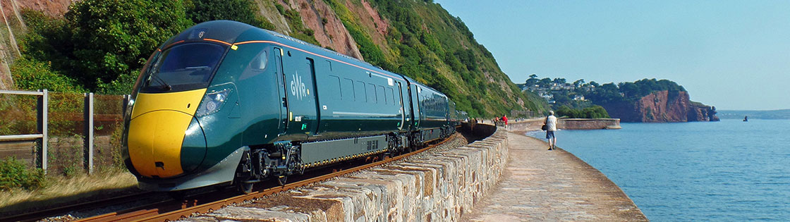 Intercity Express Train on the Riviera Line approaching Teignmouth - photo by Mark Lynam