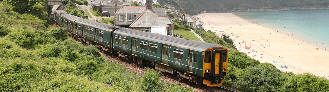 Train on the St Ives Bay Line - photo by Antony Christie