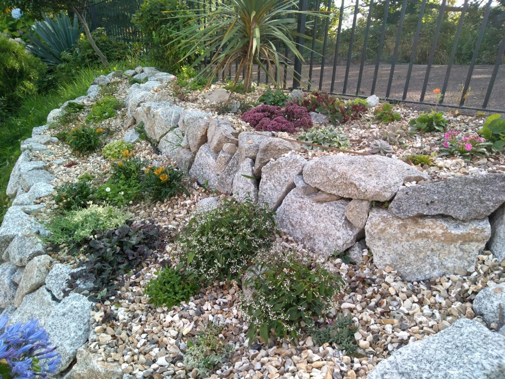 The new rockery at Penmere station, Falmouth.