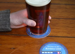 Beer mat promotion with CAMRA