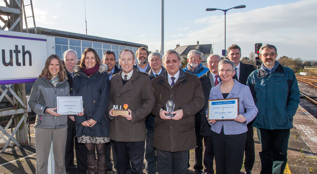 Devon and Cornwall Rail Partnership team and partners at Plymouth station