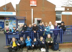 Exmouth schoolchildren ride the Avocet Line to Exeter