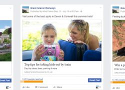 Facebook campaign to promote branch lines reaches 390,000 people