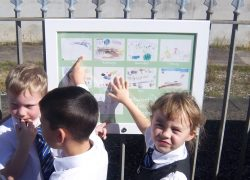 Keyham station brightened with children's artwork