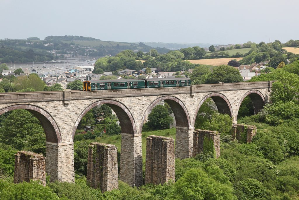 GWR train on the Collegewood Viaduct on the Maritime Line