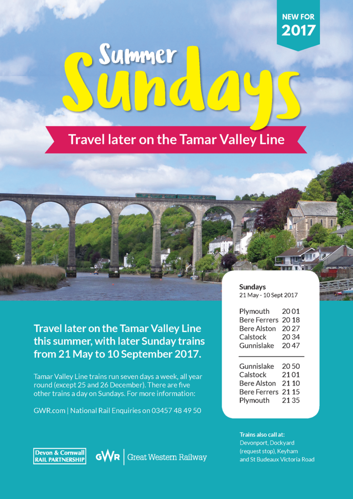 Tamar Valley Summer Sunday poster (same information as the article itself)