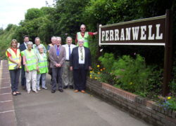 Restored Victorian sign unveiled at Perranwell