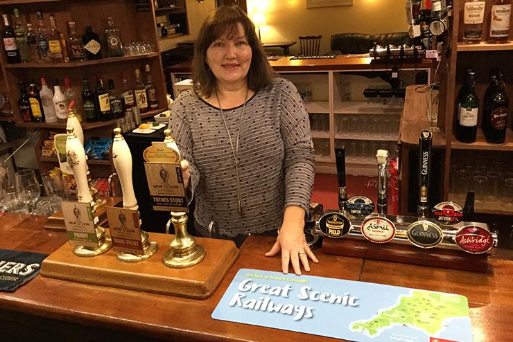 Bar runner at the Bay Horse Inn, Totnes