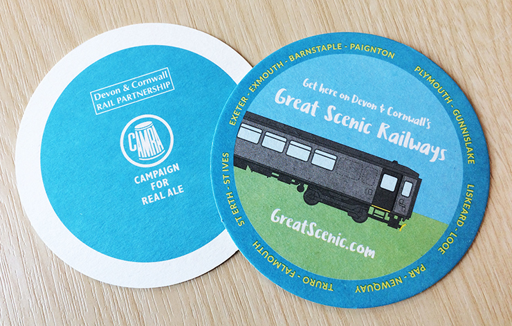 Great Scenic Railways beer mats