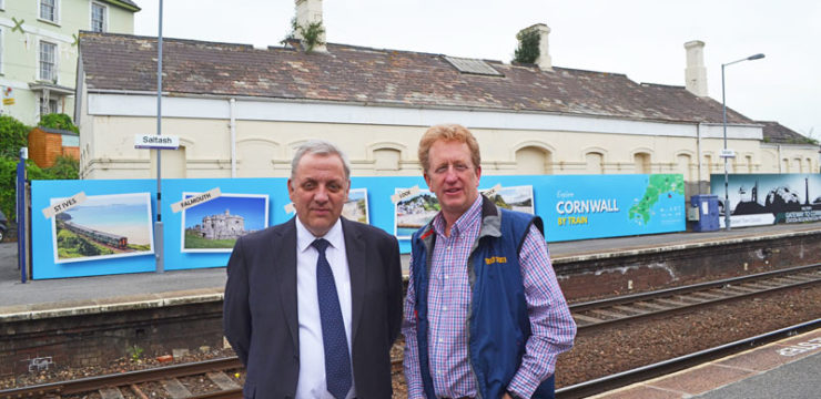New Saltash hoardings promote branch line destinations