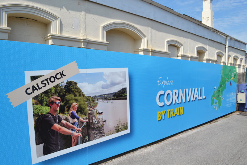 Calstock close-up of hoarding