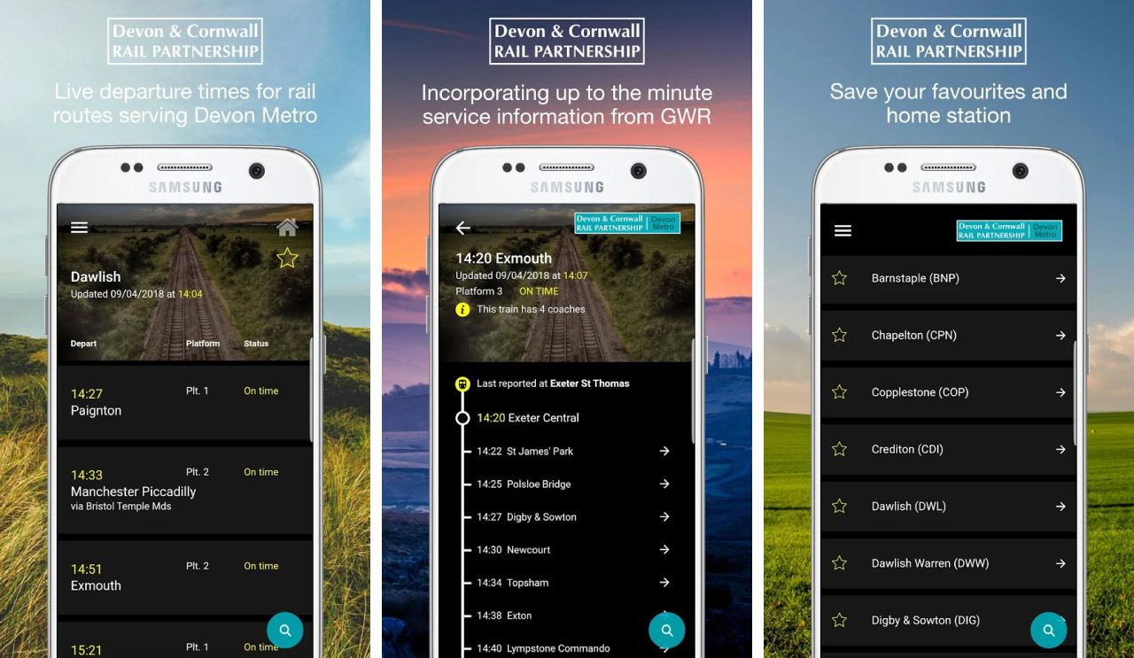 Get our free live departures apps | Devon and Cornwall Rail Partnership