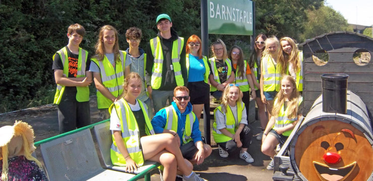 Petroc College students give Barnstaple station a makeover