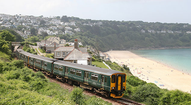 Carbis Bay on the St Ives Bay Line - photo by Antony Christie