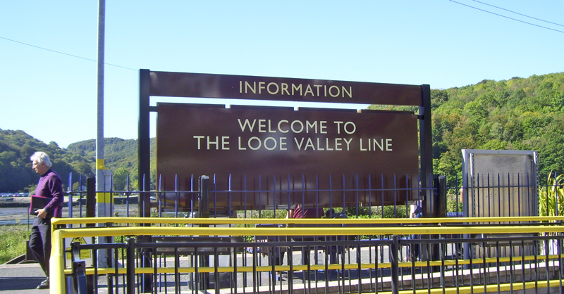 Welcome to the Looe Valley Line sign