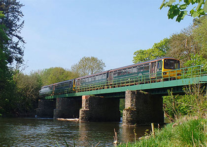 GWR train on the Tarka Line between Exeter and Barnstaple